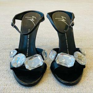 Giuseppe Zanotti Large Crystal High Heel Mules